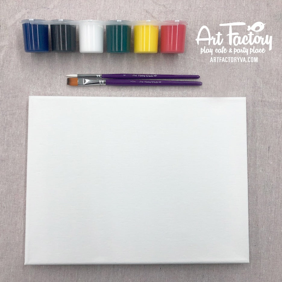 Canvas & Paint Set