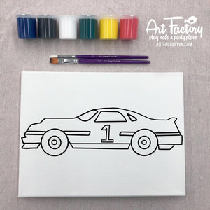 Pre-Traced Canvas - Race Car