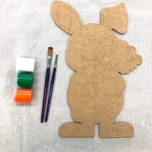 To Go Kits - Wood Carrot Bunny Cutout