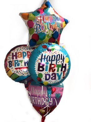 Balloon Bouquet - Happy Birthday Foil Bouquet