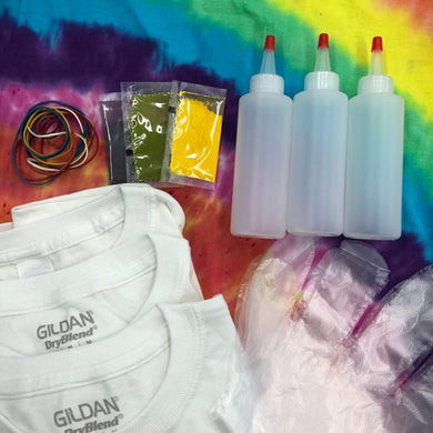 Tie Dye T-shirt Kit for Kids (RED, YELLOW, BLUE)