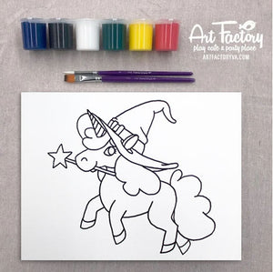 Pre-Traced Canvas - Bewitched Unicorn
