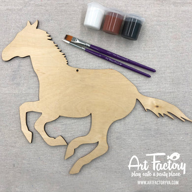 To Go Kits - Wood Horse Cutout