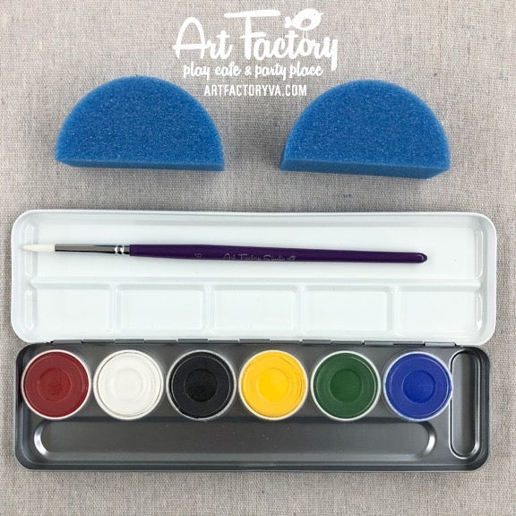 Superstar Professional Face Paint Kit - Bright Colors Palette (6 colors)