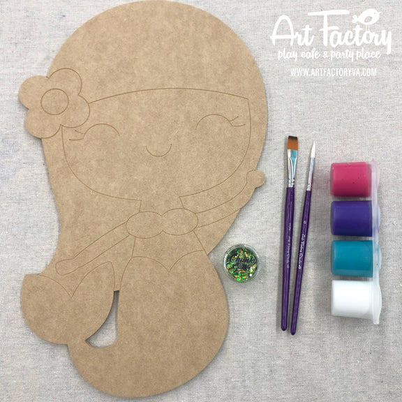 To Go Kits - Wood Mermaid-Girl Cutout