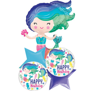Balloon Bouquet - Happy Birthday Mermaid