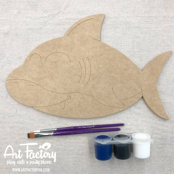To Go Kits - Wood Shark Cutout