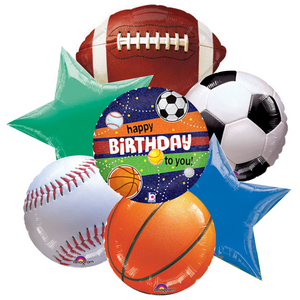 Balloon Bouquet - Happy Birthday Sports Fan