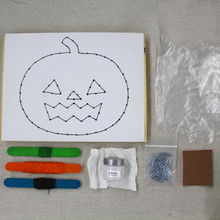 Load image into Gallery viewer, Spooky String Art - Pumpkin