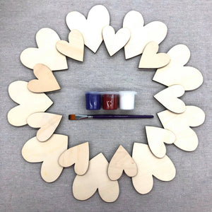 To Go Kits - Large Wooden Door Hanger Heart wreath