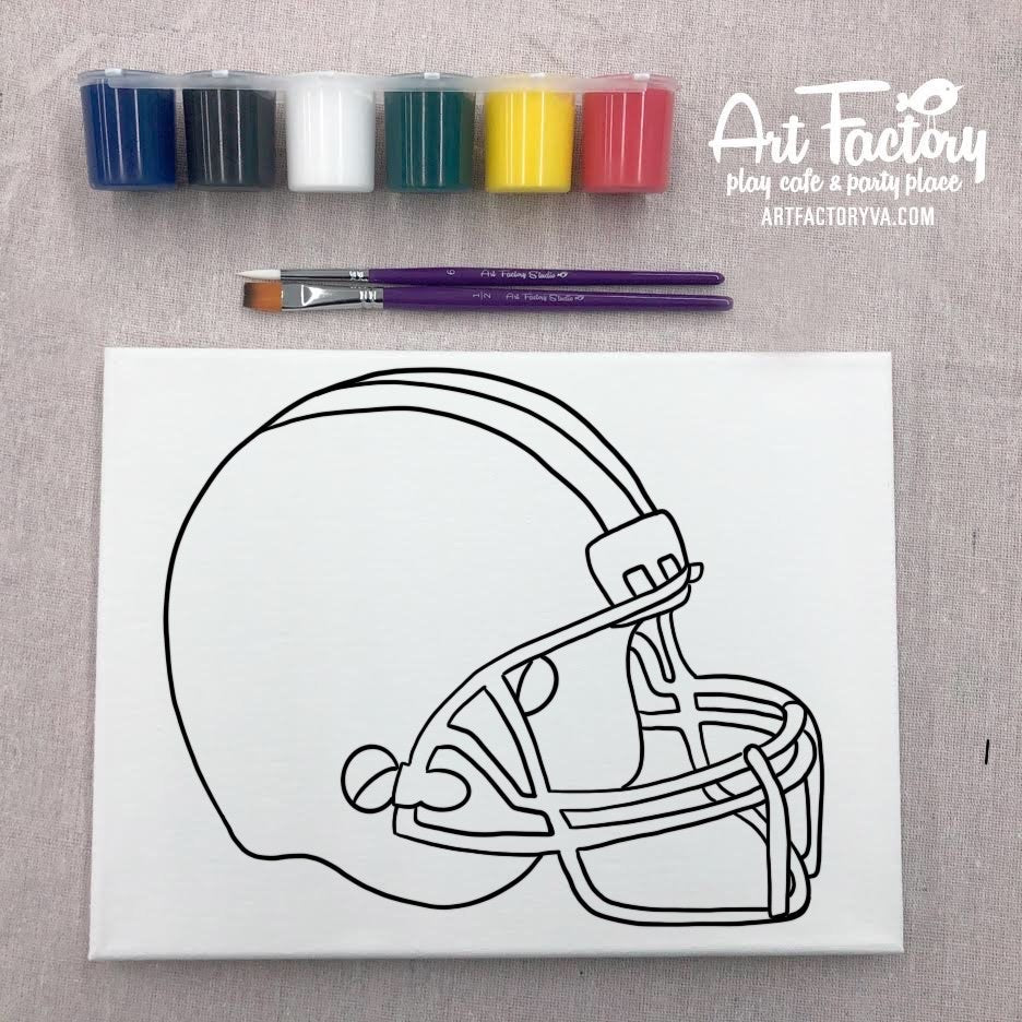 Pre-Traced Canvas - Helmet