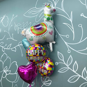 Balloon Bouquet - Happy Birthday Llama