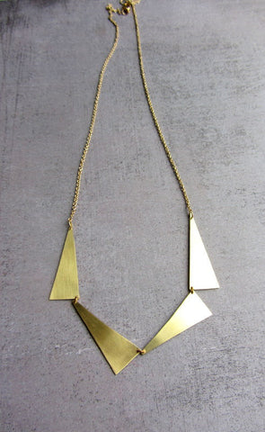 Long statement geometric necklace