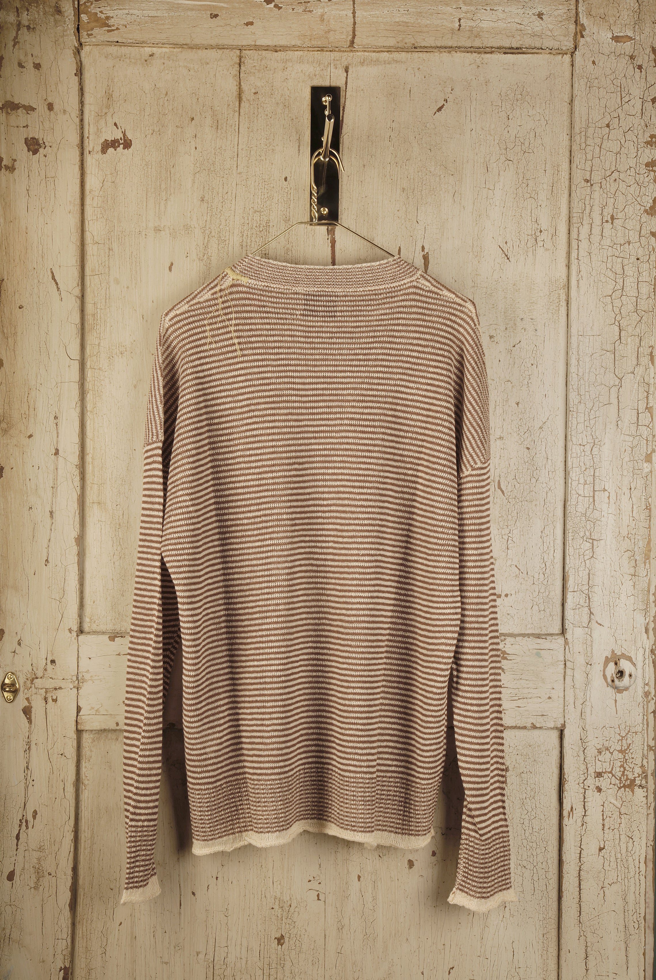 Striped Jumper With Embroidered Neck