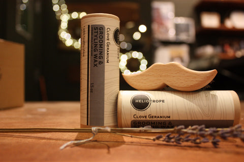 Grooming Wax & Mustache Brush