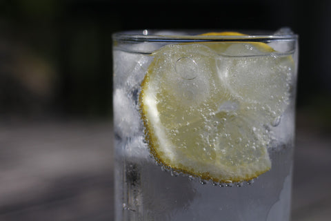 Ice Water with Slice of Lemon