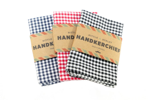 gingham handkerchief handmade brooklyn