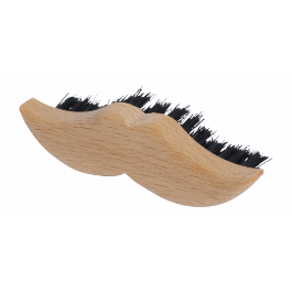 Wooden Carved Mustache Brush