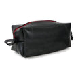 upcycled rubber dopp kit truck tires travel red