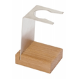 wood shaving brush stand single