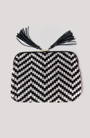 Bloom & Give Kavya Clutch Black-Gray