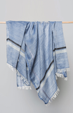 Bloom & Give Eva Cotton Scarf Blue