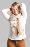 Bloom & Give Tribute Woolen Scarf - Natural