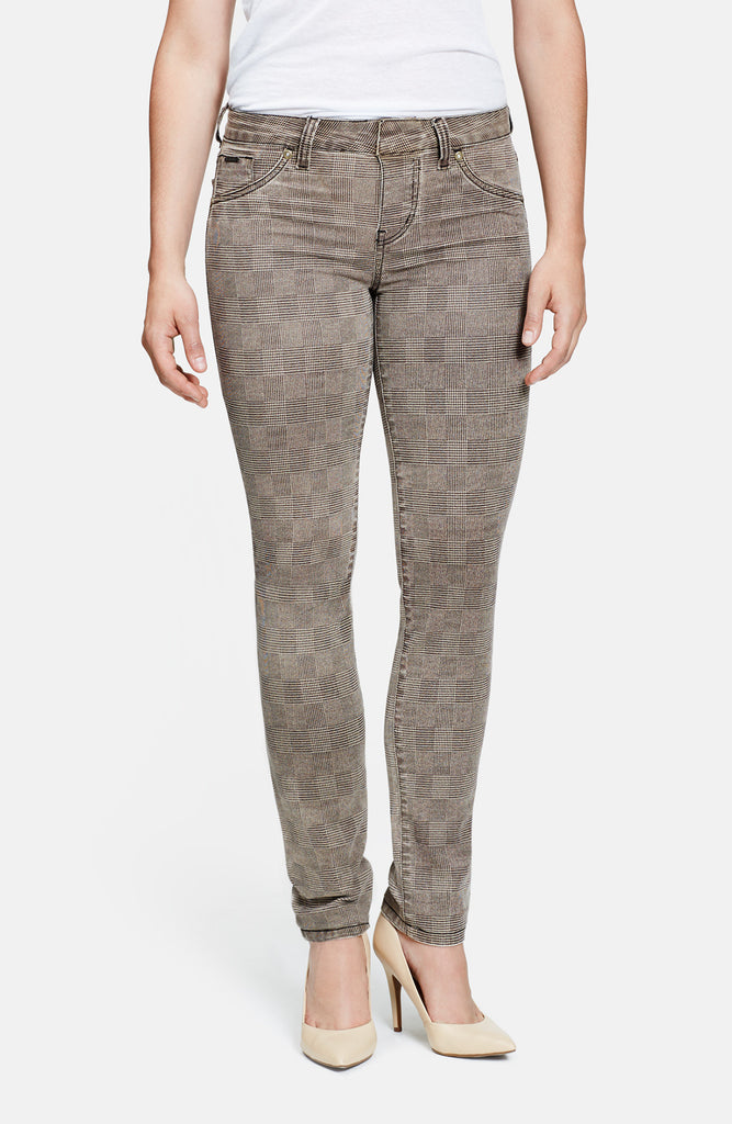 Beija-Flor Jeans Kelly Skinny Glen Plaid Brown
