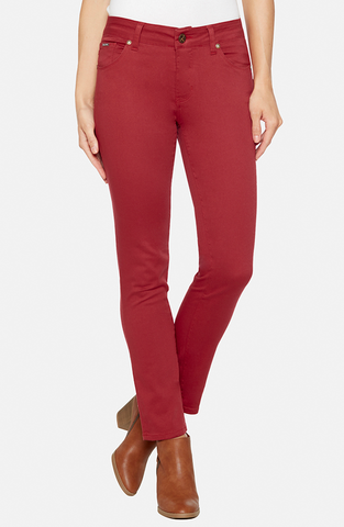 Beija-Flor Jeans Audrey Ankle Berry Red