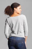 Beija-Flor Jeans Brenda Boat Neck Top Light Grey