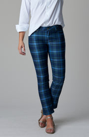 Audrey Ankle Navy Tartan Plaid