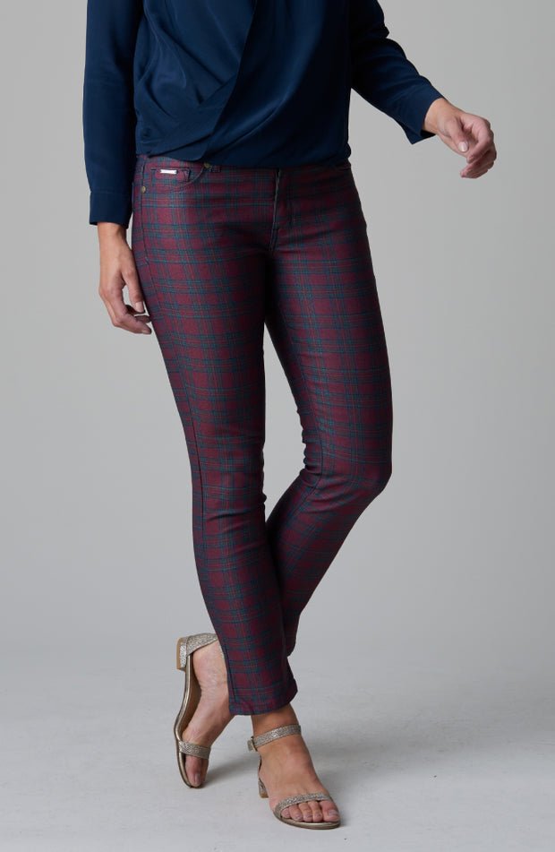 Audrey Ankle Red Stewart Plaid