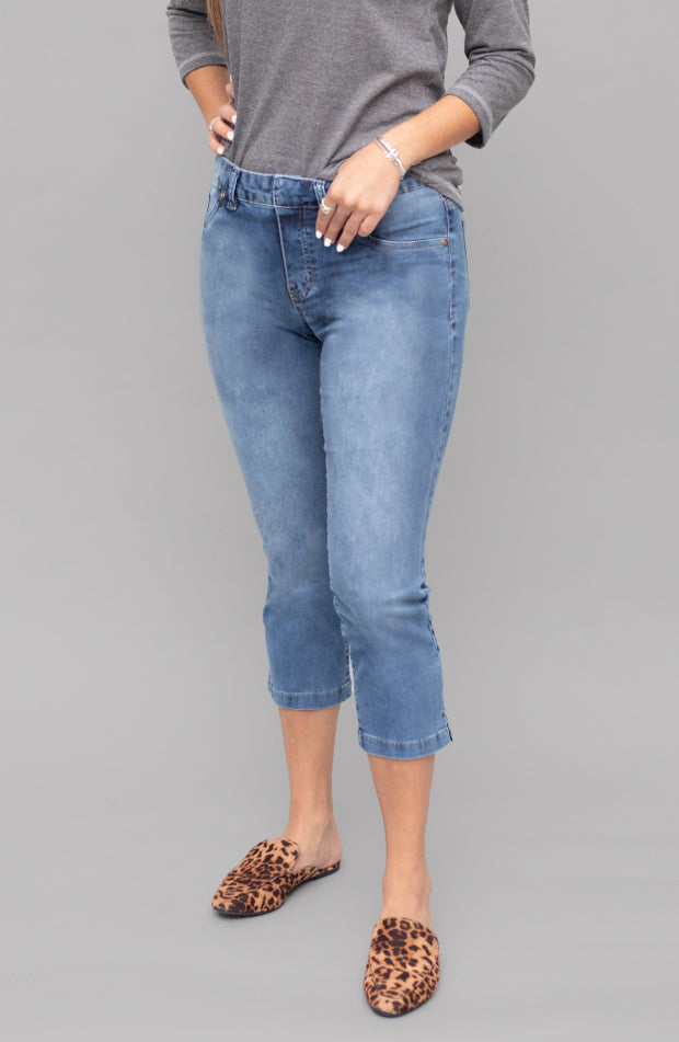 Kelly Cropped Washed Indigo