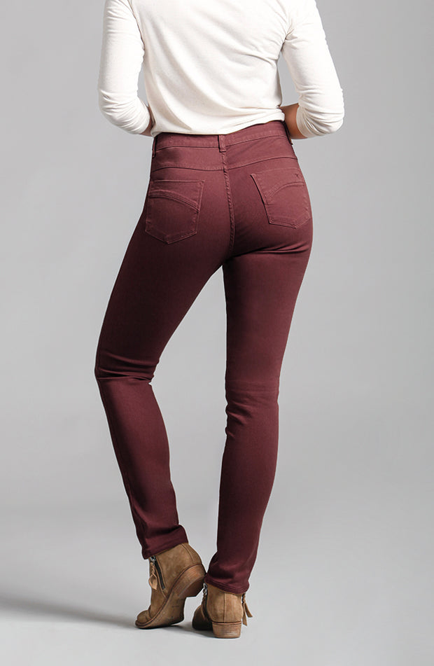 Jennifer High-Rise Skinny Mulberry
