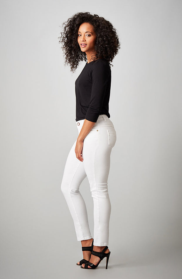 Beija-Flor Jeans Audrey Ankle Pure White