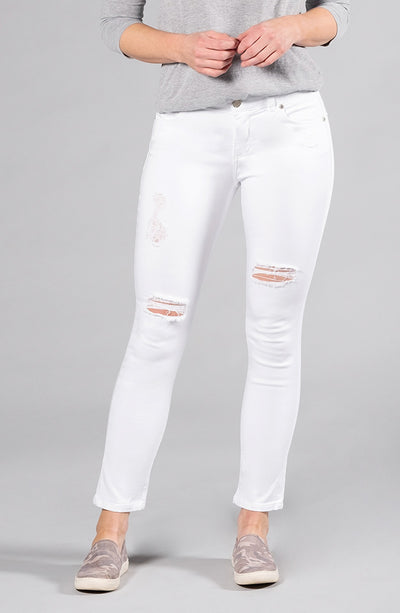 Audrey Ankle Distressed Pure White