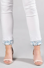 Beija-Flor Jeans Audrey Ankle Paisley Cuff