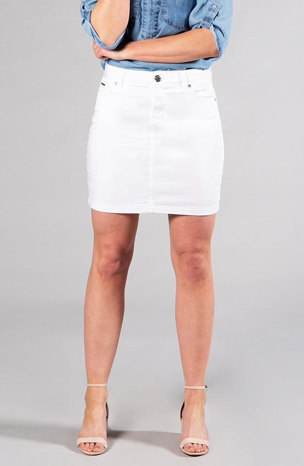 Beija-Flor Jeans Audrey Skirt Pure White