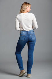 Jennifer Straight Leg in Washed Vintage Blue