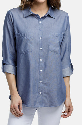 Beija-Flor Jeans Bobbie Blouse London Blue