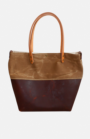 Leather/Canvas Tote