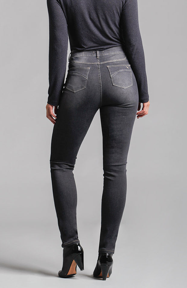 Beija-Flor Jeans Jennifer High-Rise Skinny Smokey Grey