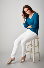 Jennifer High-Rise Skinny Pure White