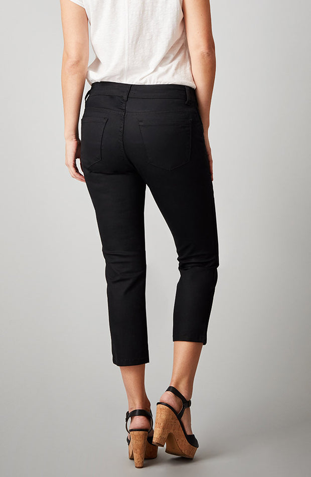 Beija-Flor Jeans Kelly Cropped Satin Black
