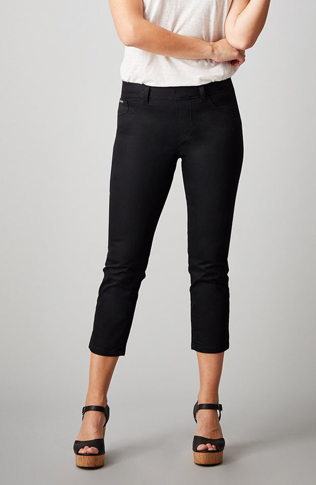 Kelly Cropped Satin Black