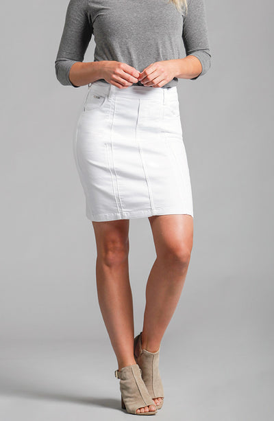 Beija-Flor Jeans Kelly Skirt Pure White