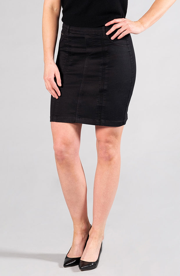 Beija-Flor Jeans Kelly Skirt Satin Black