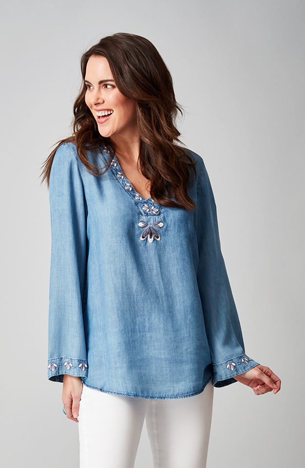 Beija-Flor Jeans Theresa Tunic Chambray