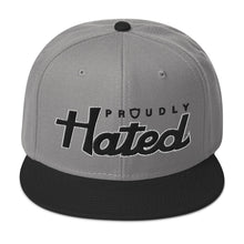 Load image into Gallery viewer, Proudly Hated 2-Tone Snapback Hat