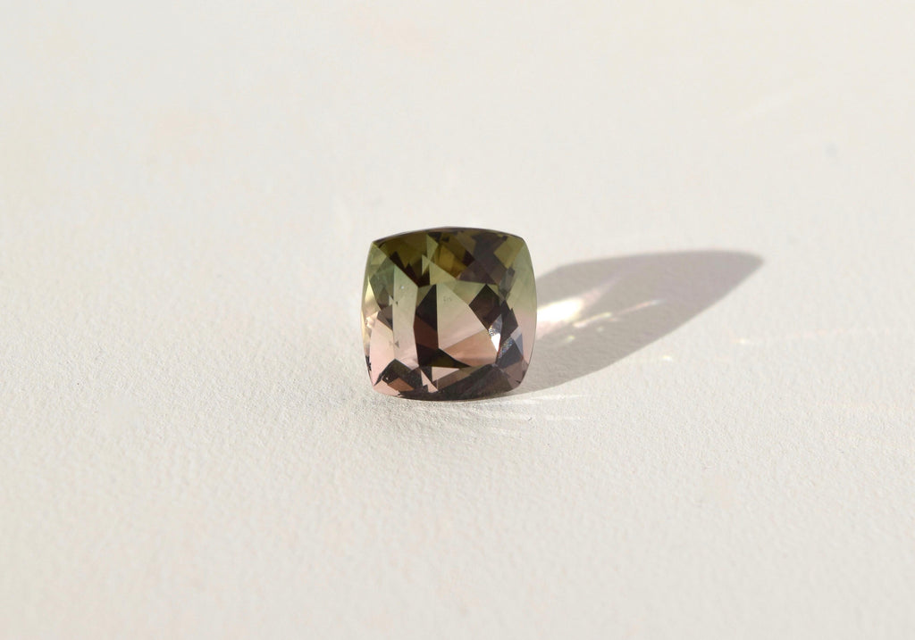 PINK/GREEN/YELLOW SQUARE CUT TOURMALINE